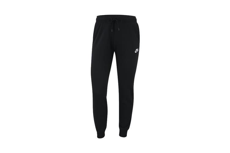 Nike Women's Essential Fleece Regular Pants (Black, Size M)