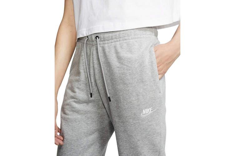 Nike Women's Essential Fleece Regular Pants (Dark Grey Heather, Size L)