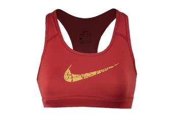 Nike Women's Victory Compression Metallic Graphic Bra (Pink)