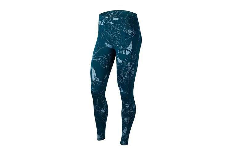 Nike Women's One Crop Tight (Midnight Turquoise, Size M)