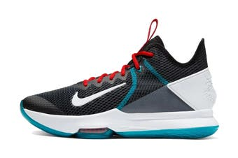 Nike Men's Lebron Witness IV Basketball Shoe (Black, Size 9.5 US)