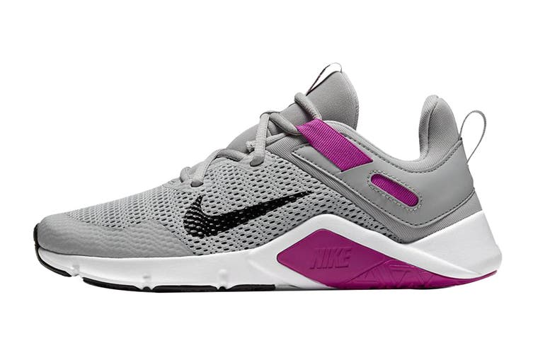 Nike Women's Nike Legend Essential Running Shoe (Smoke Grey/Black/Vivid Purple, Size 8.5 US)