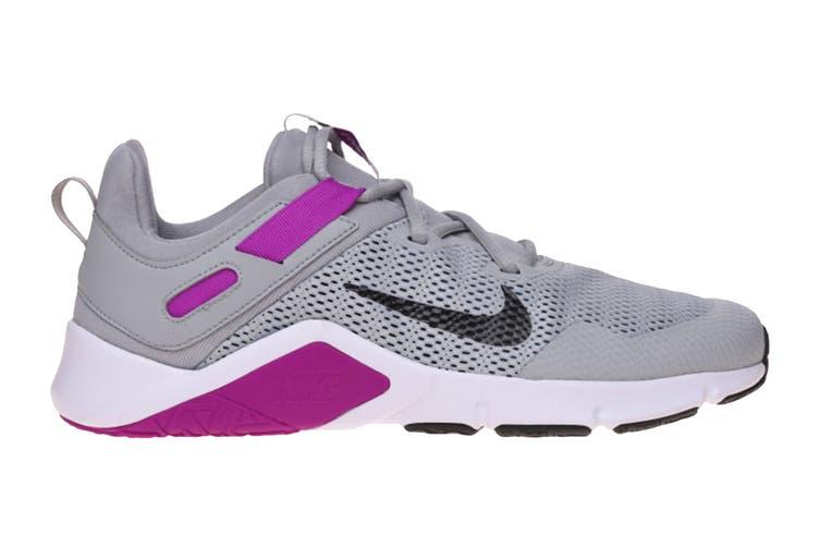 Nike Women's Nike Legend Essential Running Shoe (Smoke Grey/Black/Vivid Purple, Size 9 US)