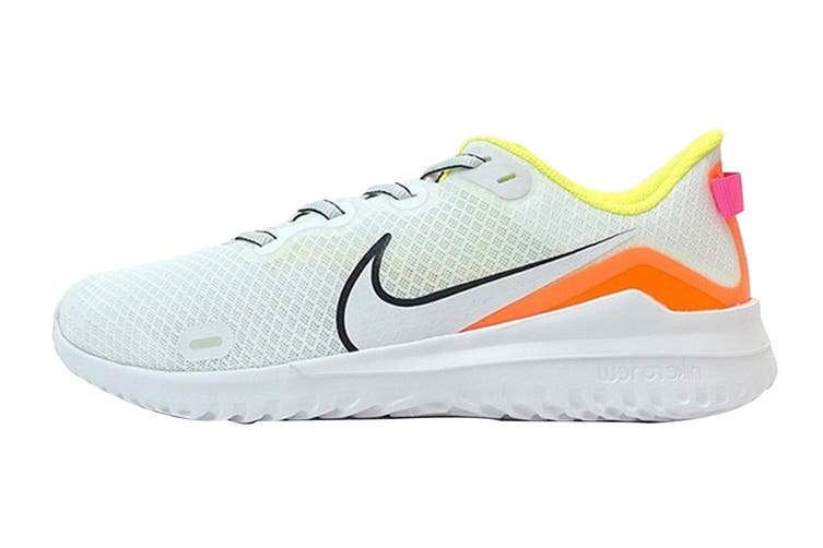 Nike Men's Nike Renew Ride Running Shoe (White/Pink/Orange, Size 9.5 US)