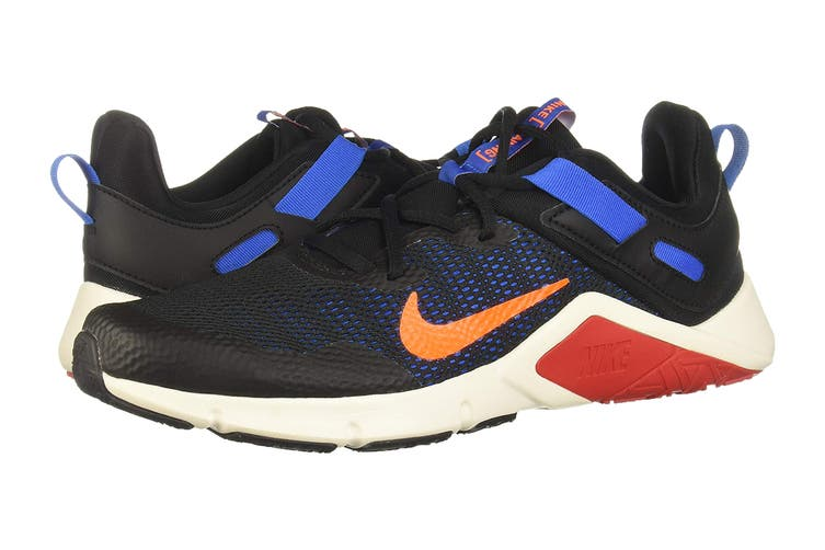 Nike Men's Nike Legend Essential Running Shoe (Black/Total Orange/Soar/Pale Ivory, Size 11 US)