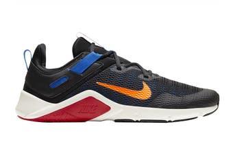 Nike Men's Nike Legend Essential Running Shoe (Black/Total Orange/Soar/Pale Ivory, Size 12 US)