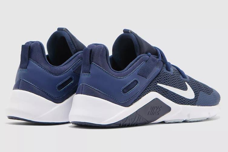 Nike Men's Nike Legend Essential Running Shoe (Midnight Navy/ Pure Platinum/White, Size 10.5 US)