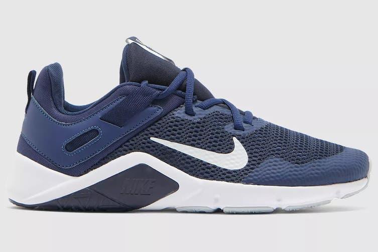 Nike Men's Nike Legend Essential Running Shoe (Midnight Navy/ Pure Platinum/White, Size 11 US)