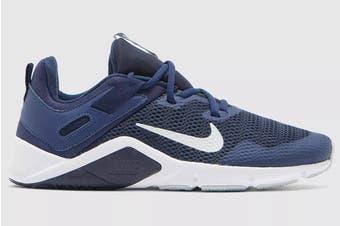 Nike Men's Nike Legend Essential Running Shoe (Midnight Navy/ Pure Platinum/White, Size 8.5 US)