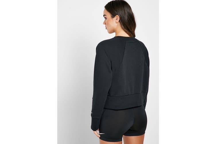 Nike Women's Dri-Fit Get Fit Sweatshirts (Black, Size XS)