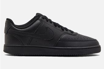 Nike Men's Nike Court Vision Lo Sneaker (Black/Black, Size 12 US)