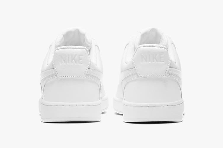 Nike Men's Nike Court Vision Lo Sneaker (White/White/Black, Size 10.5 US)