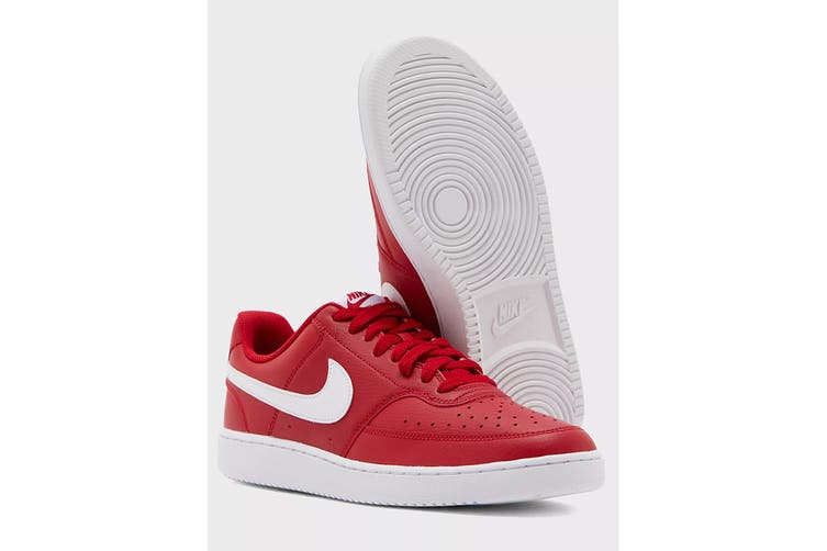 Nike Men's Nike Court Vision Lo Sneaker (Gym Red/White, Size 8 US)