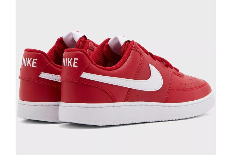 Nike Men's Nike Court Vision Lo Sneaker (Gym Red/White, Size 9.5 US)