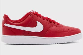 Nike Men's Nike Court Vision Lo Sneaker (Gym Red/White, Size 9 US)