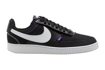 Nike Men's Nike Court Vision Lo Premium Sneaker (Black/White/Photon Dust/Court Purple, Size 10 US)
