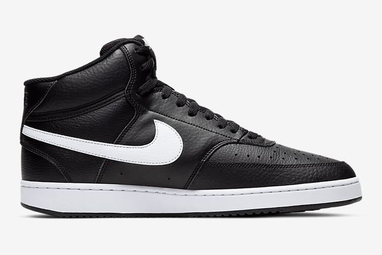 Nike Men's Nike Court Vision Mid Sneaker (Black/White, Size 10.5 US)