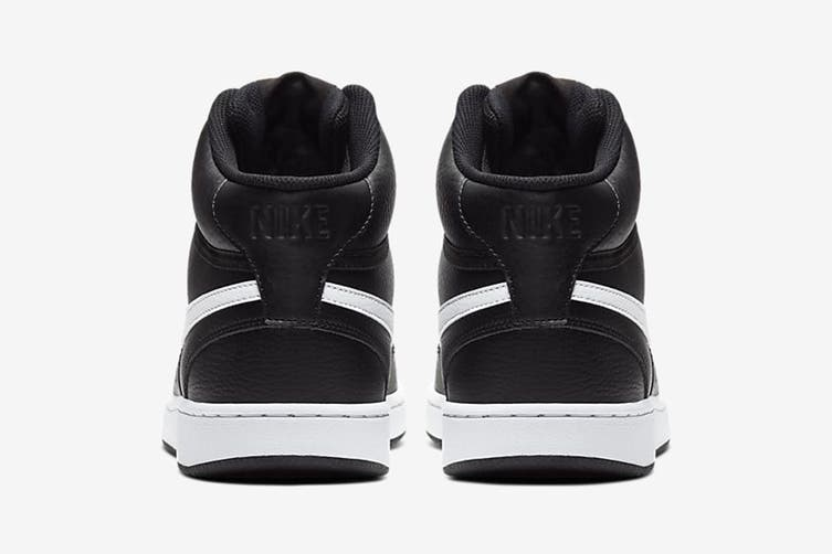 Nike Men's Nike Court Vision Mid Sneaker (Black/White, Size 9.5 US)