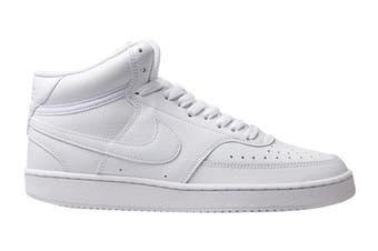 Nike Men's Nike Court Vision Mid Sneaker (White/White, Size 12 US)