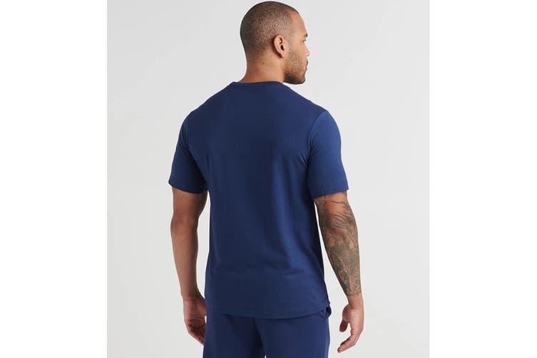 Nike Men's Jordan Air Short Sleeve Crew Tee (Midnight Navy/Teal, Size M)