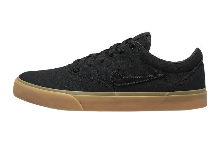 Nike Unisex SB Charge Canvas Skate Shoe (Black/Black/Gum Light Brown, Size 12 Men's US)