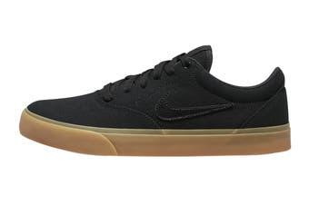 Nike Unisex SB Charge Canvas Skate Shoe (Black/Black/Gum Light Brown, Size 14 Men's US)