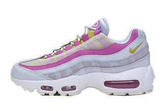Nike Women's Air Max 95 Sneaker (Grey/Saffron Pink/White, Size 6 US)