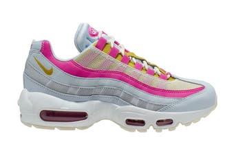 Nike Women's Air Max 95 Sneaker (Grey/Saffron Pink/White, Size 9 US)