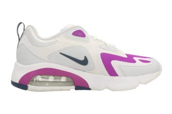 Nike Women's Air Max 200 Sneaker (Photon Dust/White/Vivid Purple/Valerian Blue, Size 6 US)