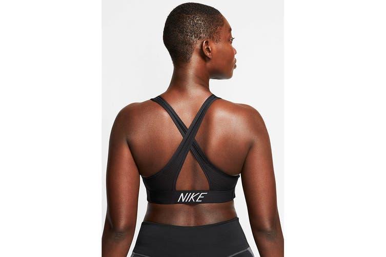 Nike Women's Medium Support Padded Bra (Black, Size S)