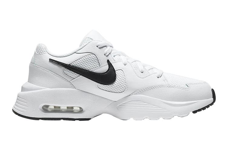 Nike Men's Air Max Fusion Shoe (White/Black/White, Size 14 US)