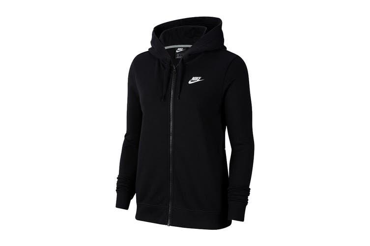 Nike Women's Club Full Zip Hoodie (Black, Size M)