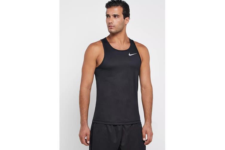 Nike Men's Breathe Run Tank (Black, Size M)