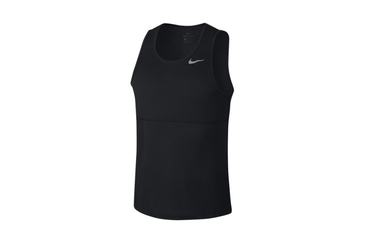 Nike Men's Breathe Run Tank (Black, Size XL)