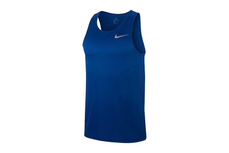 Nike Men's Breathe Run Tank (Pacific Blue, Size M)