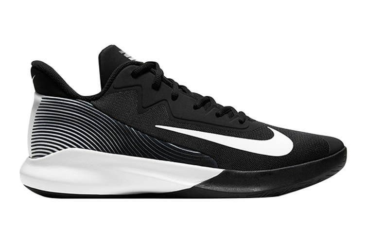 Nike Men's Precision IV Basketball Shoe (Black/White, Size 12 US)