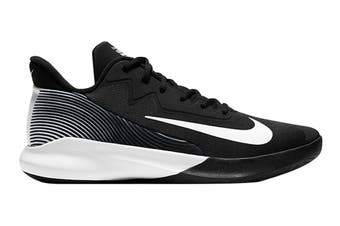 Nike Men's Precision IV Basketball Shoe (Black/White, Size 14 US)
