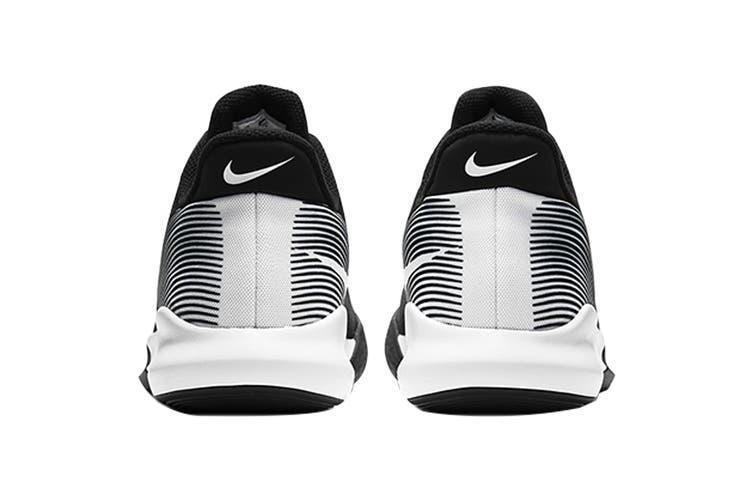 Nike Men's Precision IV Basketball Shoe (Black/White, Size 8 US)
