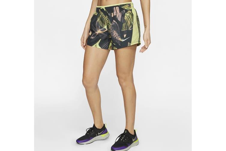 Nike Women's 10K Short PR (Seaweed/Limelight, Size L)