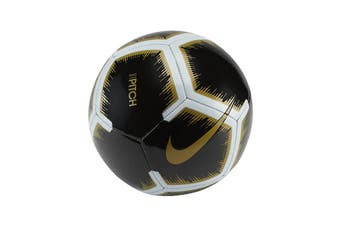 Nike Pitch Soccer Ball (Black, Size 5)