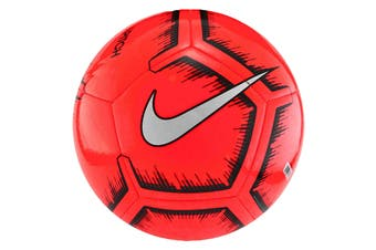 Nike Pitch Soccer Ball (Red, Size 5)