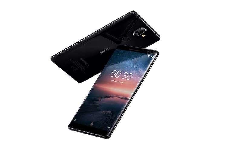 Nokia 8 Sirocco (128GB, Black)