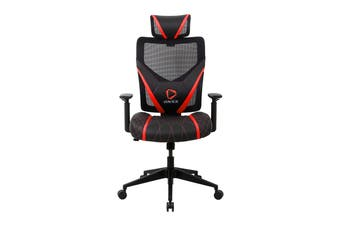 ONEX GE300 Breathable Ergonomic Gaming Chair - Black/Red