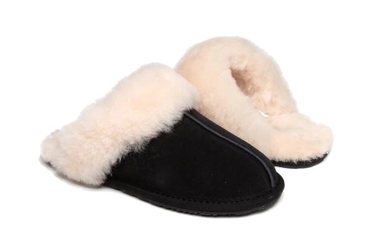 Ozwear UGG Women's Genesis Slipper (Black, Size M)