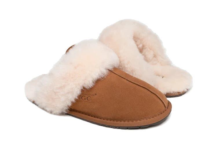 Ozwear UGG Genesis Slipper (Chestnut, Size M)