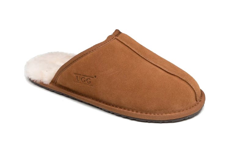 Ozwear UGG Men's William Slipper (Chestnut, Size M)