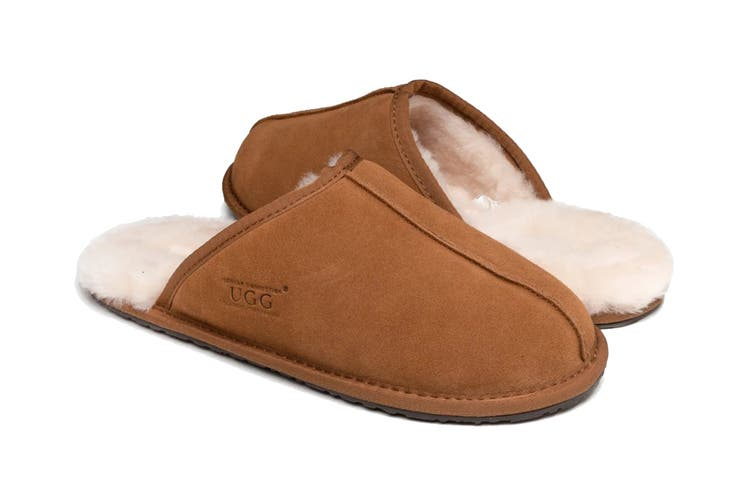 Ozwear UGG Men's William Slipper (Chestnut, Size S)