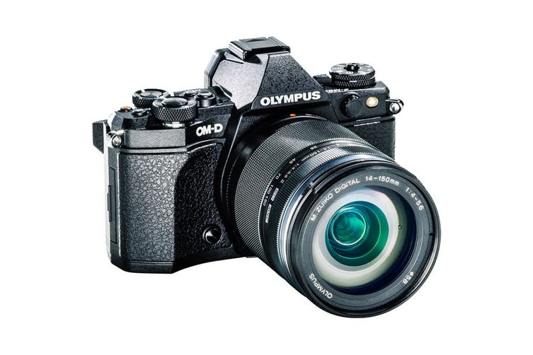 Olympus OM-D E-M5 Mark II Mirrorless Camera Adventure Kit with EZ-M1415-2 Lens - Black