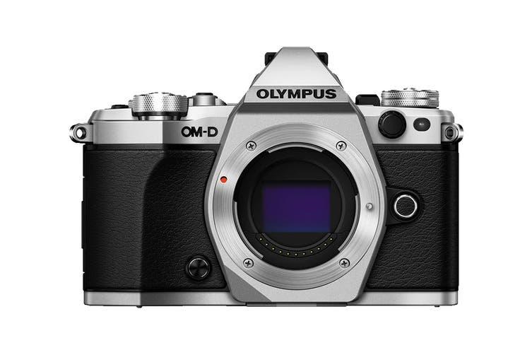 Olympus OM-D E-M5 Mark II Mirrorless Camera Pro Kit with EZ-M1240 Lens - Silver