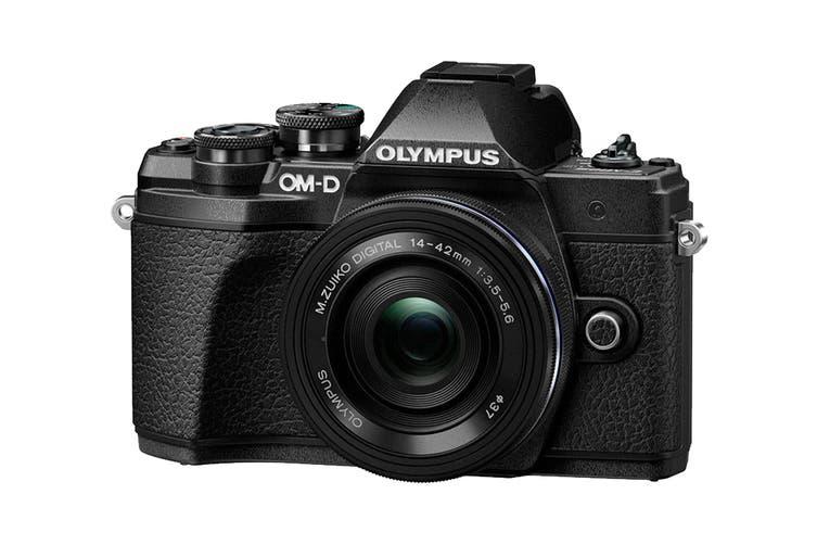 Olympus OM-D E-M10 Mark III Mirrorless Camera Kit with 14-42mm EZ Lens - Black
